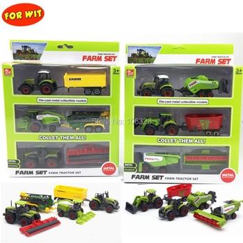 Todo o trator agrícola conjunto grande jogo coleção brinquedo, diecast metal veículo modelo de carro com peça de plástico, cortador de colheita pulverizador usina