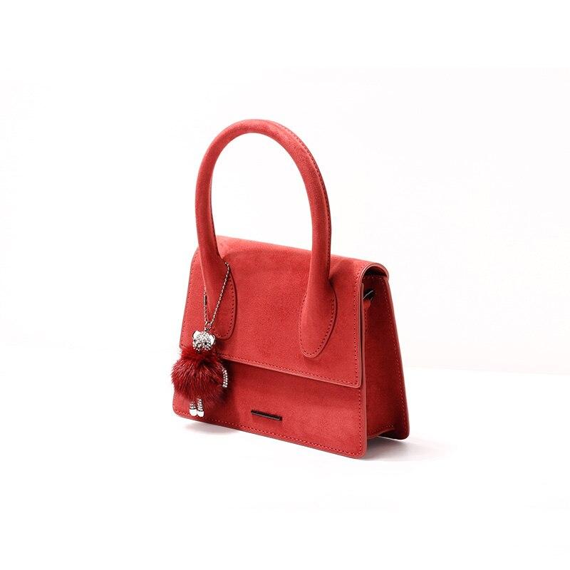 2019 새로운 제품 나열 패션 핸드백 트렌드 여성 가방 스웨이드 가방-에서탑 핸드백부터 수화물 & 가방 의  그룹 2