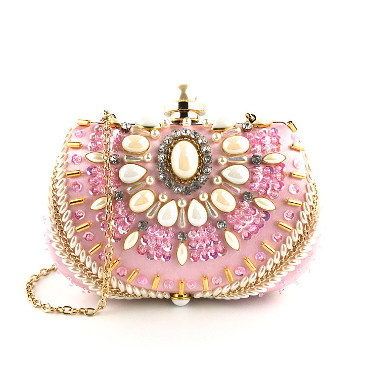 2019 Luxury Evening Bags Diamond Rhinestone Pearls Beaded Wedding Clutch Womens Purse Handbags Wallets Evening Clutch Bag Bolsa2019 Luxury Evening Bags Diamond Rhinestone Pearls Beaded Wedding Clutch Womens Purse Handbags Wallets Evening Clutch Bag Bolsa