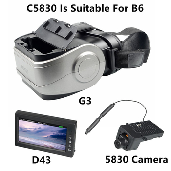 цена на MJX B3 C5830 Camera Fit B6 RC Helicopter Spare Parts D43 LCD Screen G3 Goggles 5.8g FPV Real-time Image Transmission