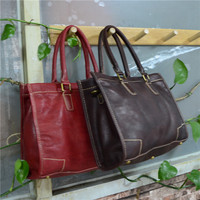 Vegetable Tanning Vintage Leather Women Big Tote Bags Real Leather Messenger Shoulder Bags Female Large Quilted Woman Bag