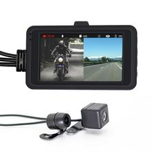 DC 12-24V 720P Waterproof Motorcycle Camera DVR 3.0 Inch HD Display Motor Dash Cam Special Dual-track Lens Front Rear Recorder