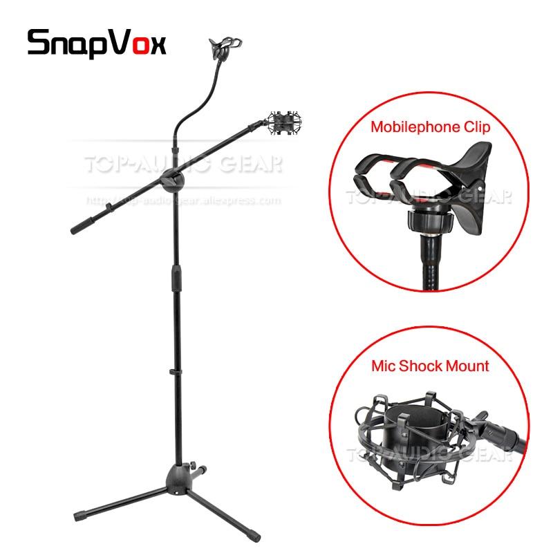 Boden Stativ Mikrofon Stehen Mobile Smart Handy Clip Mic Halter Spinne Shock Mount Für Shure Pg27 Pg42 Sm27 Pg 27 42 Sm27 Spezieller Kauf Heimelektronik Zubehör