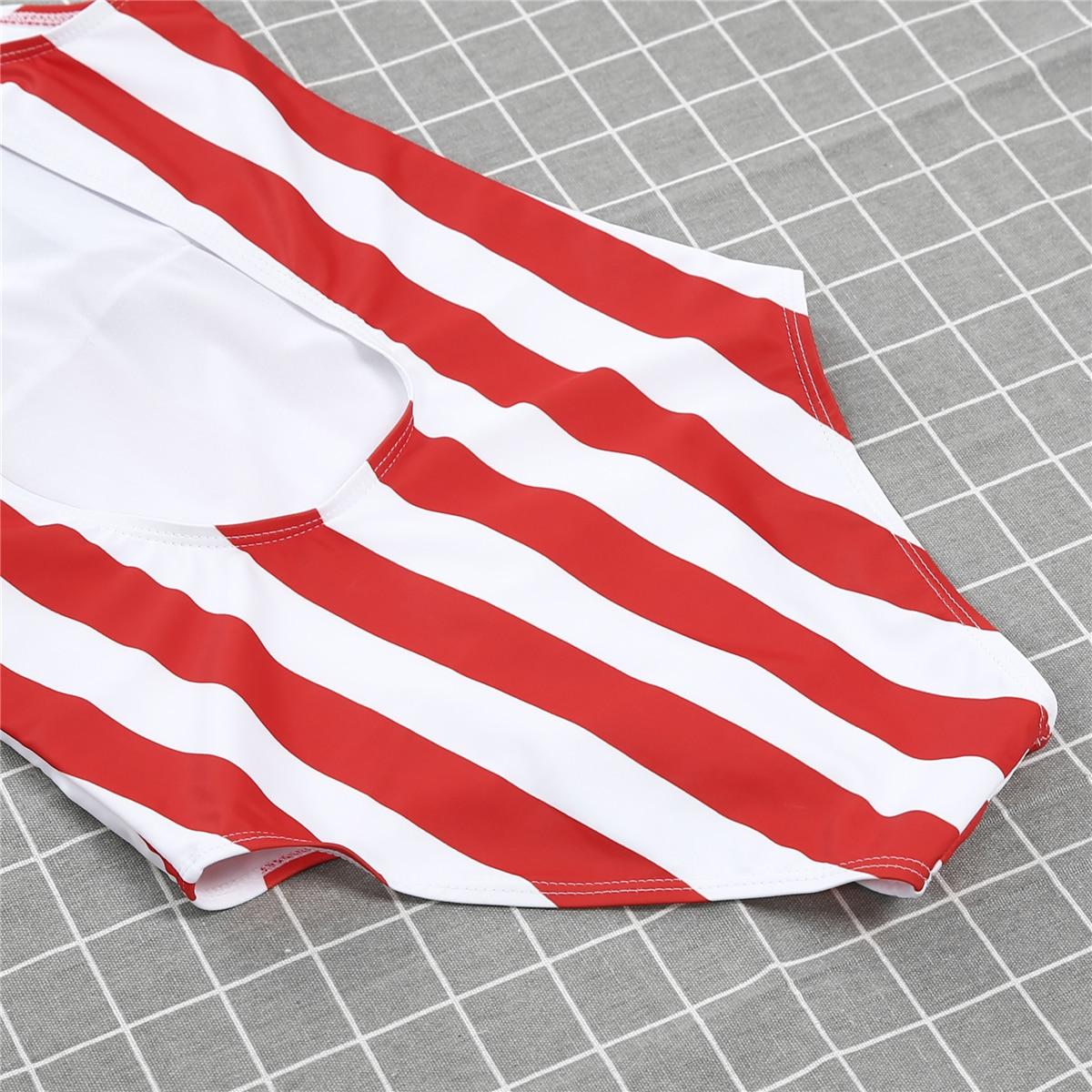 2019 New Sexy Womens One Piece Push Up Padded Monokini Beach Striped Backless Swimwear Swimsuit Bikini Bathing Suits Beachwear-2