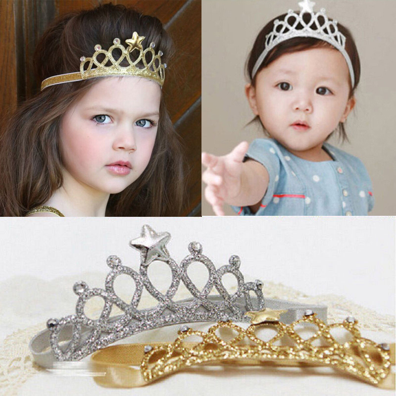 2019 New Baby Girls Princess Headwear Queen Crown Hairband Toddler Headband Kids Tiara Birthday Gifts Cute Baby Girl Accessories