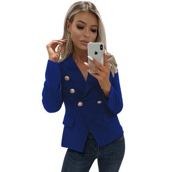 64c7b44a0 Las mujeres delgadas chaquetas y abrigos 2019 traje de manga larga  chaqueta