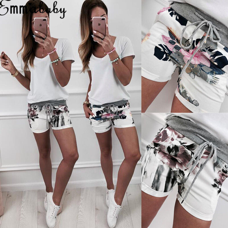 Hirigin Harajuku Jogger Shorts 2019 New Women Girls Casual High Waisted Short Mini Shorts Beach Party Hot Sale