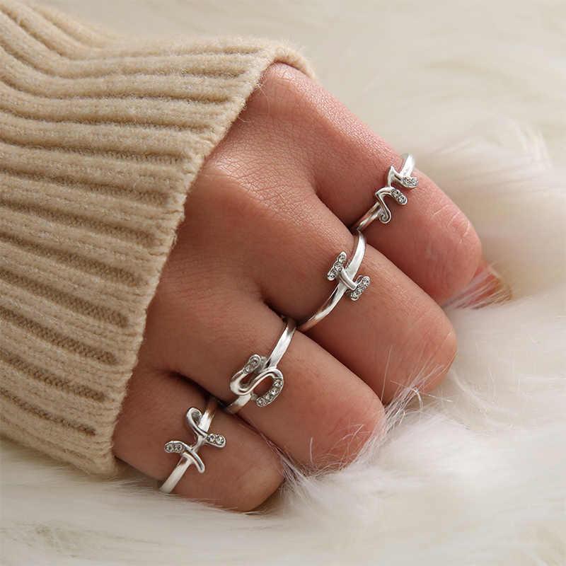 ידידות מבטיחים טבעת תכשיטי מתנה הטוב ביותר ילדה טבעות מכתבי 26 נשים חמה חבר