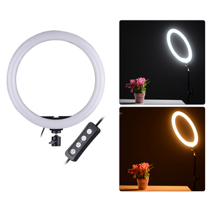 Image 5 - Portable Selfie Video Ring Light Dimmable 24W LED Lamp Ring Light Camera Phone Photography Enhancing with Phone Holder ringlight