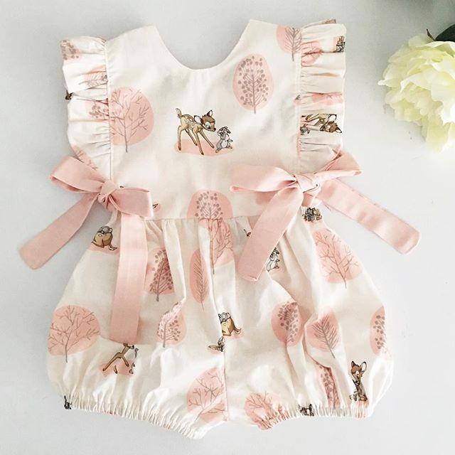 Fashion 2020 Baby Girl Summer Clothing Cute Deer Flower Cotton Soft Romper Jumpsuit For Newborn Infant Clothes Children Kid