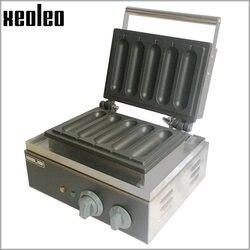 XEOLEO Hot dog waffle maker Sausage Machine Hot Dog machine Electric 5 pieces Non stick French Muffin hot dog lolly stick maker