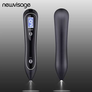 Image 1 - Точечный светильник с ЖК дисплеем, 9 уровней, плазменная кожа, кроты, темные веснушки, точка, бирка для лица, татуировка, Удаление родинок, ручка для пятен
