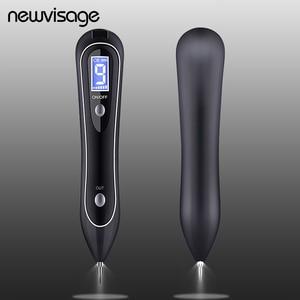 Image 1 - Spotlight Wart Remover LCD Laser 9 level Plasma Skin Moles Dark Freckle Dot Face Tag Tattoo Beauty Mole Removal Sweep Spot Pen