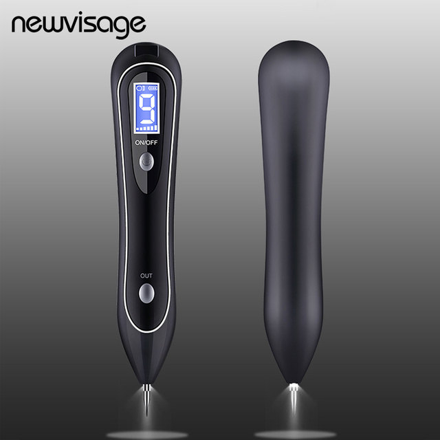 Spotlight Wart Remover LCD Laser 9 level Plasma Skin Moles Dark Freckle Dot Face Tag Tattoo Beauty Mole Removal Sweep Spot Pen