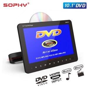 Image 4 - شاشة سيارة 10.1 بوصة DVD/USB/SD/MP5/FM جهاز إرسال IR/لعبة/مدخل فيديو HDMI/مخرج SH1068 DVD