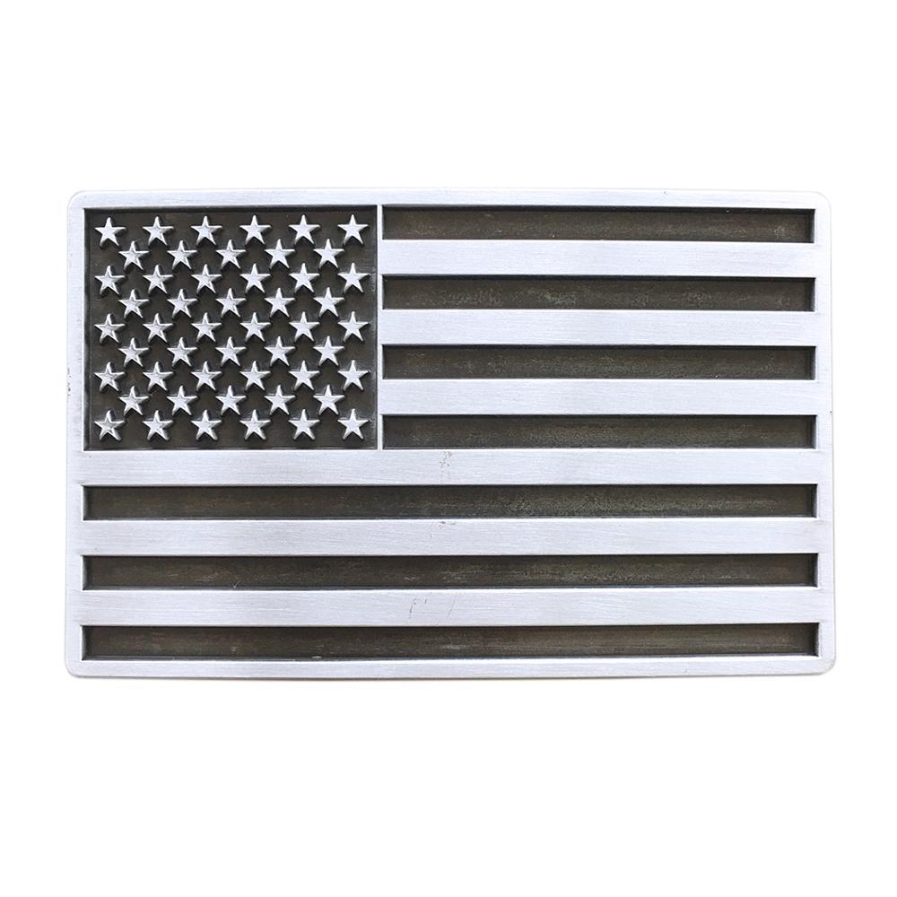 New Vintage American USA Flag Rectangle Belt Buckle Gurtelschnalle Boucle De Ceinture BUCKLE-FG028AS Free Shipping
