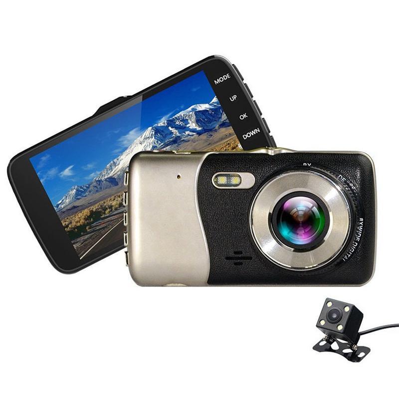 Image 3 - Mini Dvrs 4 Inch Dual Lens Dash Camera HD 1080P Car DVR Vehicle Video Dash Cam Recorder G Sensor Night Vision Rearview DVR-in DVR/Dash Camera from Automobiles & Motorcycles