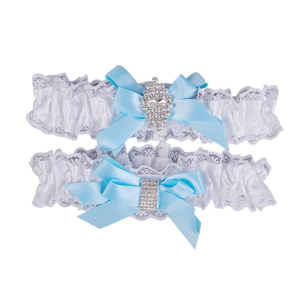 1 Paar Western Hochzeit Elegante Braut Strumpfband Braut Spitze Elastische Strass Fuß Decor Angenehm Zu Schmecken