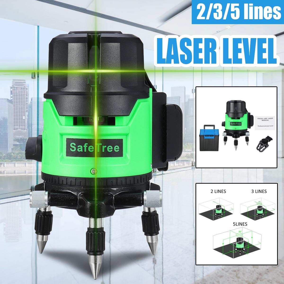 2/3/5 ligne Laser vert niveau trépied auto-nivelant 360 Horizontal Vertical extérieur automatique auto nivellement Laser mesure outil