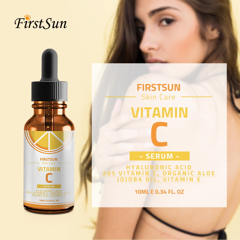 Vitamin C Whitening Serum Hyaluronic Acid Face Cream Anti-Aging Essence Serum Remover Freckle Speckle Fade Skin Care