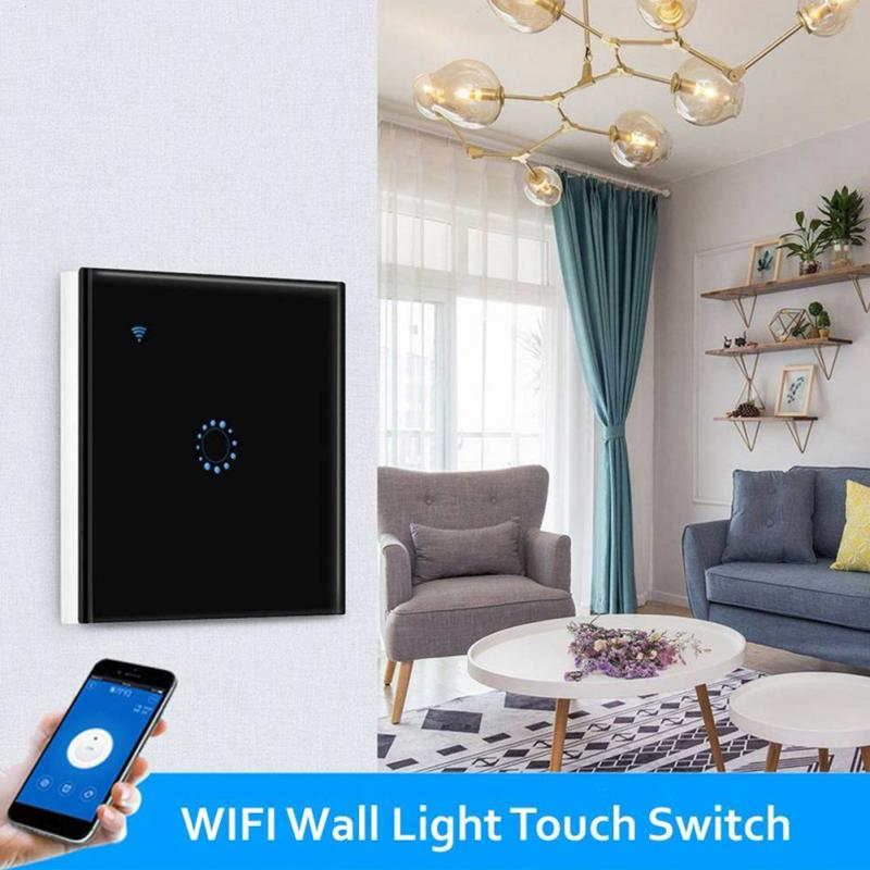 Wi-Fi Touch Switch Wall US EU/UK Plug Wifi Light Touch LED Lights Switch for Smart Home Wireless Remote Switch Control #1025 for gopro wi fi control wifi remote control kit