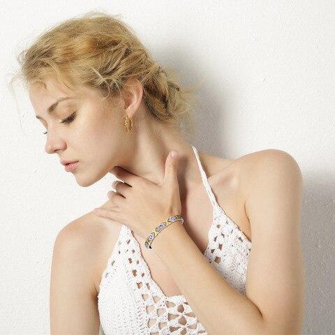 Vnox Bio Energy Magnetic Women's Bracelet 4 in 1 Health Care Jewelry Improve Arthralgia Reduce Fatigue 2018 Femme Gift Pakistan
