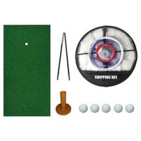 Golf Practice Set Golf Mat Pop Up Collapsible Golf Chipping Net Realistic Fairway Turf Portable Chipping Golfing Target