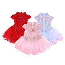 Платье для маленьких девочек Хлопковое летнее платье-пачка принцессы для малышей кружевное фатиновое платье с бантом для вечеринки и свадь...