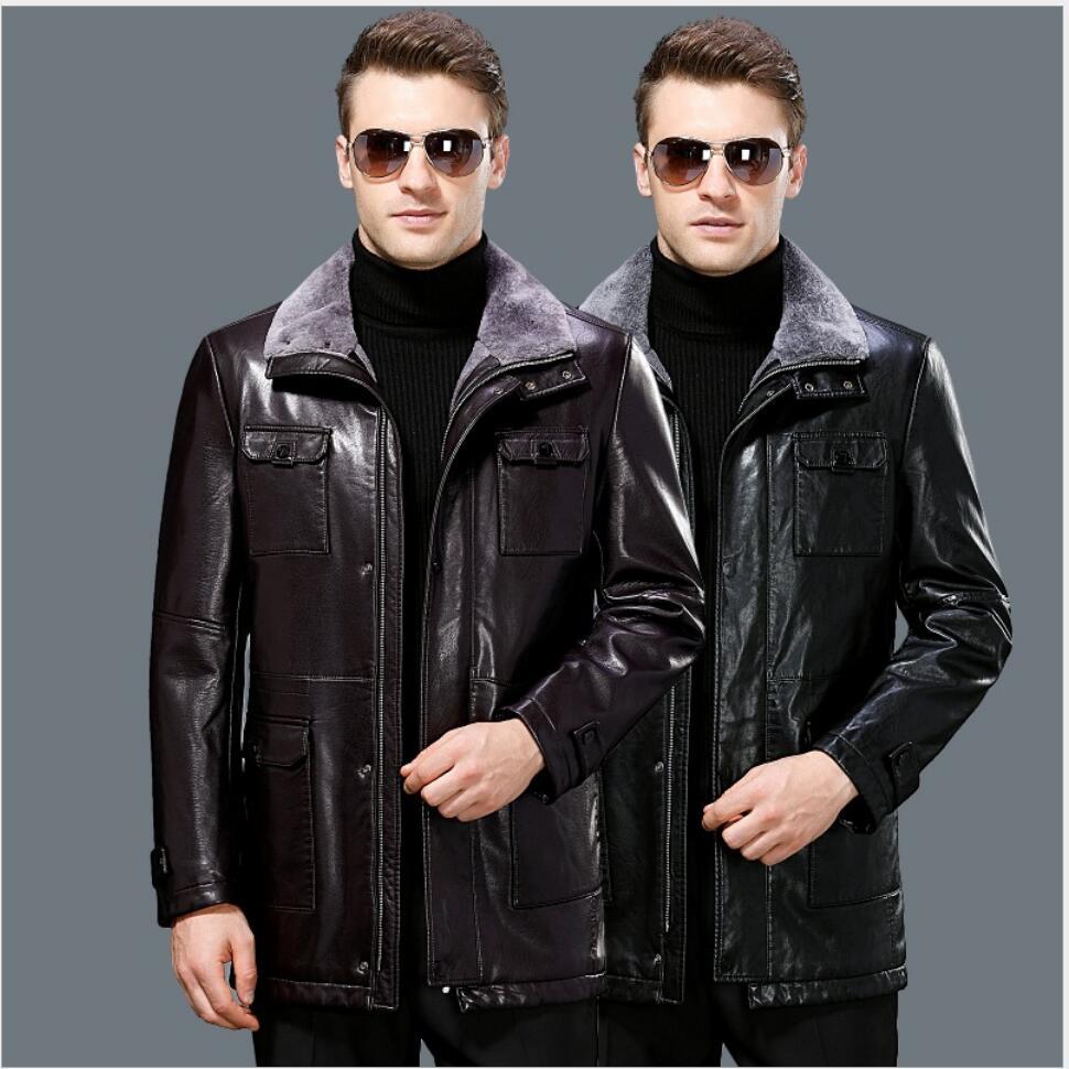 S 3XL, новинка 2019, зимние пальто для мужчин, модные, повседневные, тонкие, с отворотом, простые, с длинным рукавом, толстые, черные, мужские, овеч...