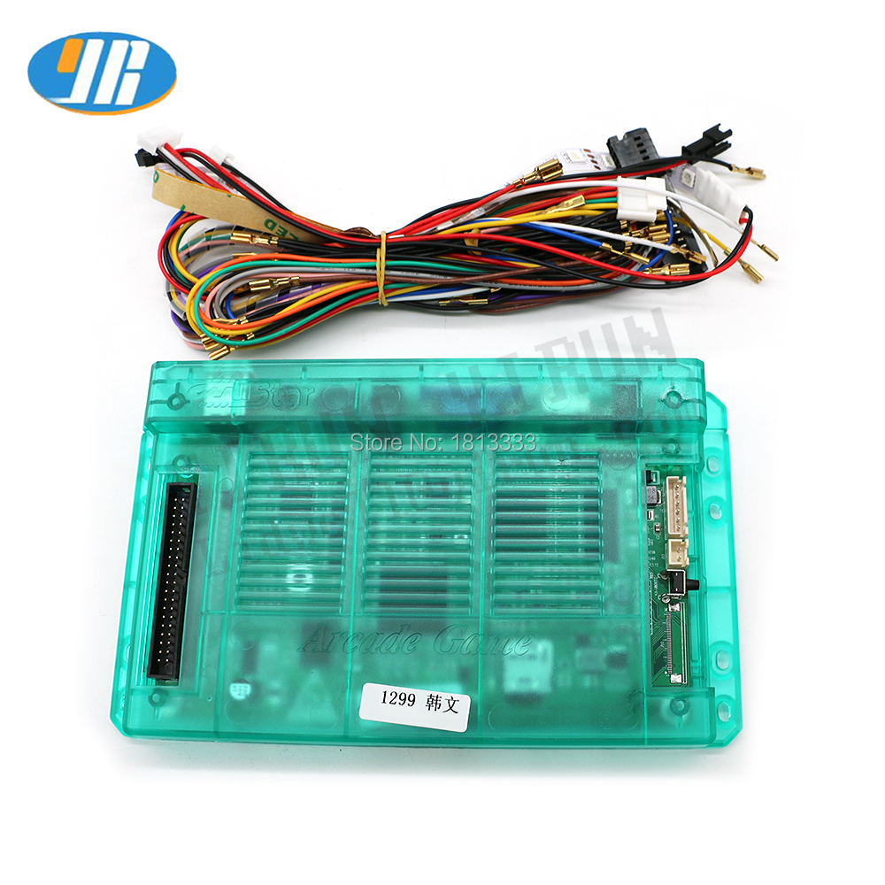 HDMI 1299 In 1 PCB Board Arcade Cartridges Box 5S Motherboard Main Board With Wiring harness