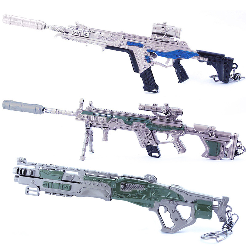 10 pcs/lot jeux chauds APEX légendes figurines jouet APEX légendes héros pistolet modèle porte-clés ensemble pendentif accessoires 21 cm