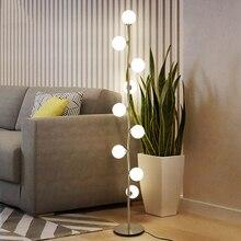 Modern LED Glass Floor Lights Standing Lamps Luminaire Living Room Lamp Restaurant Bedroom Light Fixtures