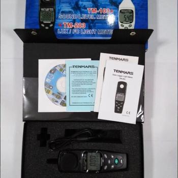 Tenmars TM-203 ręczny Auto począwszy miernik światła z rejestrowaniem danych tanie i dobre opinie