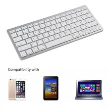 Fashion Ultra-Slim Bluetooth Wireless Keyboard Keypad for Apple iPad Laptop PC membrane keypad for 6av3637 1ml00 0gx0 slemens op37 membrane switch simatic hmi keypad in stock