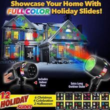 12 типов Рождество лазерный Снежинка проектор уличный светодиодный светильник водонепроницаемый дискотека огни дома сад звезда свет Крытый украшения