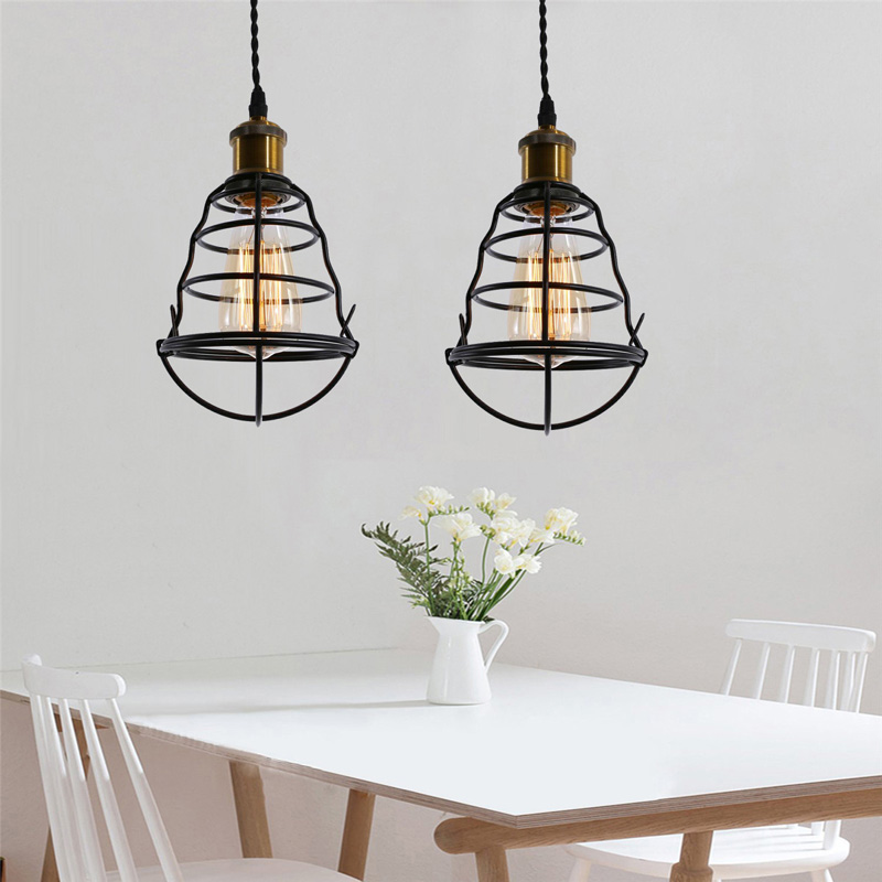 Modern Industrial Vintage Cage Pendant Light Iron Art Pyramid Wrought Home Ceiling Lamp Suitable for E27 bulbsModern Industrial Vintage Cage Pendant Light Iron Art Pyramid Wrought Home Ceiling Lamp Suitable for E27 bulbs