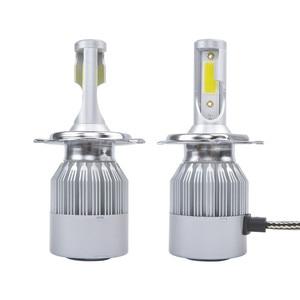 Image 2 - AOSHIKE 2PCS 슈퍼 밝은 터보 램프 H8 H9 H11 자동차 조명 전구 총알 H1 H7 12V LED 빛 H4/9003/HB2 Hi/Lo 자동 헤드 라이트