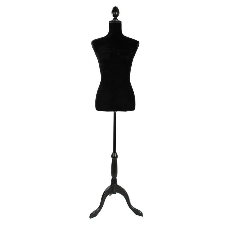 Stand Half Length Hollow Foam Coating Lady Mannequin for Clothing Display Black New Arrivals