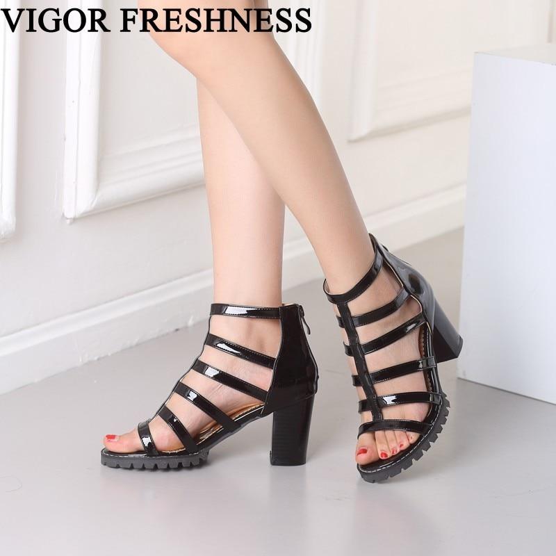 Vigor Freshness Women Sandals Summer High Heels Woman