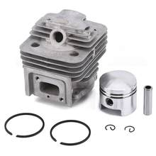 Hot 44MM Lawn Mover Cylinder Piston Kit Ring Set ForMITSUBISHI TL52 BG520 Brush Cutter Engine Garden Power Tools Parts new style(China)