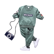 Spring Autumn Children Boys Girls Fashion Clothes T-Shirt Pants 2pcs Sets Kids Cotton Casual Clothing Suits Toddler Tracksuits