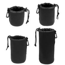 1 шт. сумка для объектива камеры сумка из неопрена водонепроницаемая мягкая бленда объектива с крышкой сумка чехол Полный Размер s m l камера XL Защита объектива