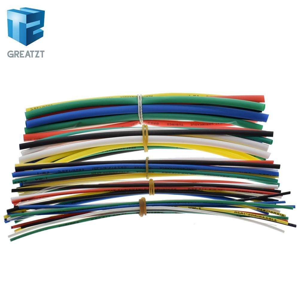 New Electric Unit 70pcs Flame Retardant Durable 7 Color Assorted Colors Ratio 2:1 Polyolefin Heat Shrink Tubing Tube Kits