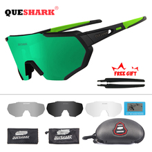QUESHARK 2019 новый дизайн поляризованных велосипедные очки для мужчин Для женщин велосипед очки велосипедные очки 4 линзы зеркальные UV400 очки