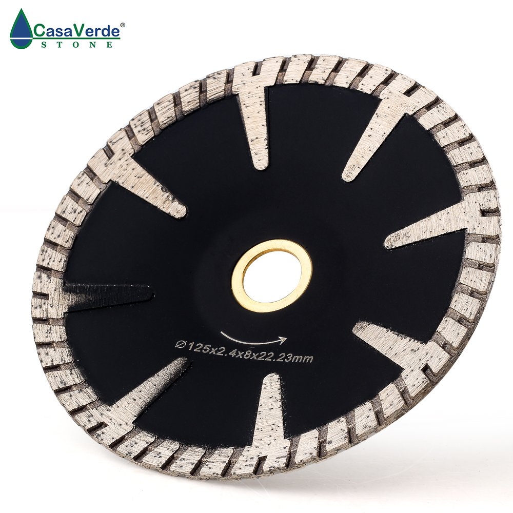 DC-SCB02 125mm Circular Diamond Concave Cutting Blade 5 Inch For Granite And Marble