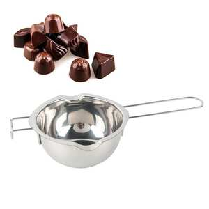 400ml/600ml Stainless Steel Chocolate Pot Double Pan Milk Bowl Butter Candy Insulation