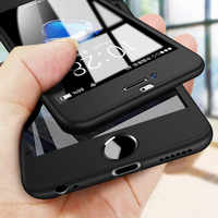 Cobertura completa 360 funda para iPhone 6 6x8 s 7 7 Plus 5 5S SE PC protector funda para el iPhone 7 8 Plus XS carcasa para Max XR con vidrio