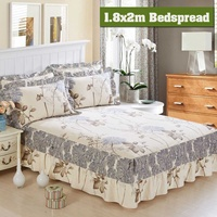 1.8mx2m Pastoral Bed Cover Solid Bed Cover Sheets Bed Cotton Quilted Lace Bedspread Lace Bed Sheet Support Drop Shipping