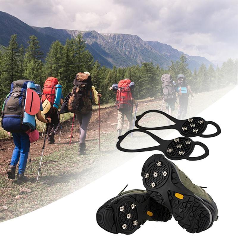 1 pair 5 Tooth Crampons Outdoor Mountain Climbing Hiking
