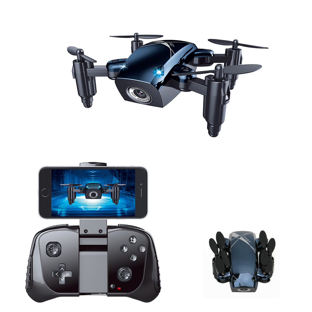 S9M WiFi FPV Foldable Mini RC Drone Altitude 2.4G 720P Camera Drone Selfie Quadcopter APP Control RC Helicopter Gift S9HW S9